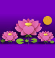 paper flower lotus nature for your vector image vector image