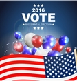 Presidential Election Vote 2016 in USA Background vector image vector image
