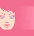 retro a girl portrait vector image vector image
