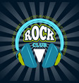 rock music club music logo badge emblem vector image vector image