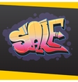 Sale banner in graphite style vector image vector image
