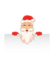 santa claus cartoon character with clean sheet vector image vector image