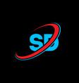 sd s d letter logo design initial letter sd vector image vector image