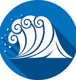 Sea Wave Icon vector image vector image