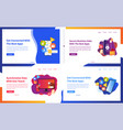 set creative website template concepts ui vector image vector image
