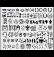 Set of heraldic elements vector | Price: 3 Credits (USD $3)