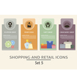 Shopping and retail labels vector image vector image