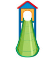 slide playground equipment on white background vector image vector image