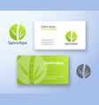 spine spa abstract logo and business card vector image