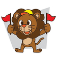 Supporters Lion vector image