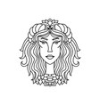 taurus girl portrait zodiac sign for adult vector image vector image