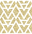 Tribal glitter golden seamless pattern