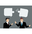 Two businessmen are talking differently vector image vector image