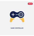 Two color game controller cross icon from