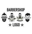 vintage retro barbershop logo label emblem and vector image vector image