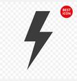 warning icon lightning caution isolated vector image