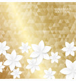 white paper flowers on the golden triangle texture vector image