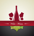 wine menu cover vector image vector image