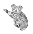 Zentangle stylized koala vector image vector image
