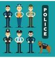 Set of policeman character vector image