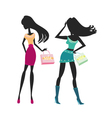 fashion silhouettes vector image