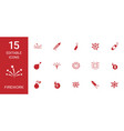 15 firework icons vector image vector image