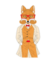 anthropomorphic fox in elegant classic suit with vector image vector image