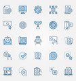 approve blue icons set approved verified vector image