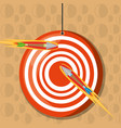 arrow target competition play game vector image vector image