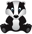 badger isolated on white background vector image