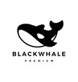 black killer whale logo icon vector image