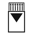 box matches icon simple style vector image vector image
