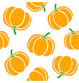 cartoon pumpkins on a white background simple vector image vector image