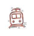 cartoon train transportation icon in comic style vector image vector image