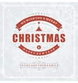 Christmas retro typography and light with vector image