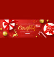 christmas sale web banner template holiday vector image