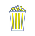 cinema popcorn icon vector image vector image