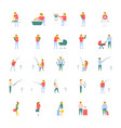collection of people flat icons vector image vector image