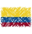 Colombian grunge flag vector image