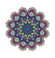 colorful mandala pattern design with darker colors vector image vector image