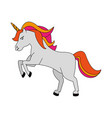 cute littl unicorn cartoon vector image vector image