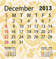 december 2013 calendar albino snake skin vector image vector image