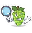 detective green grapes character cartoon vector image vector image
