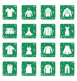 different clothes icons set grunge vector image vector image