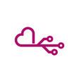 digital love logo icon design vector image