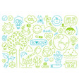 ecology sketches and hand drawn icons vector image