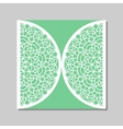 Envelope template with mandala lace ornament vector image vector image