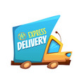 express delivery truck with vector image