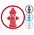 fire hydrant symbol vector image vector image