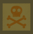 flat shading style icon halloween skull bones vector image vector image